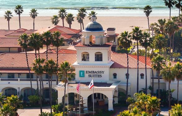 embassy-suites-mandalay-beach-aerial-view